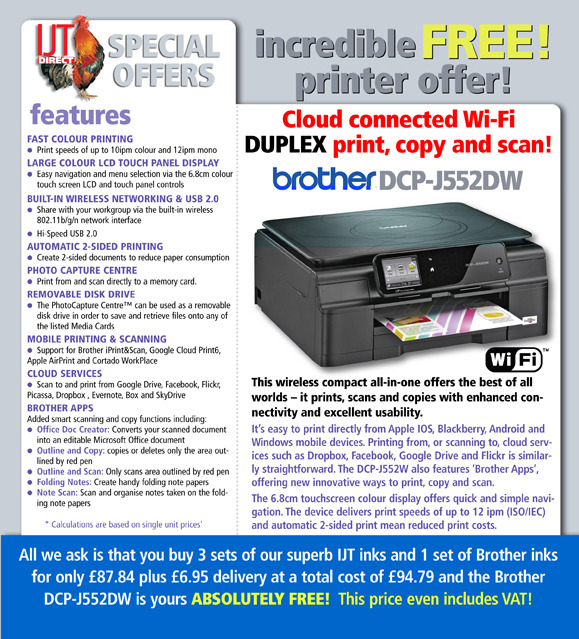 Brother DCP J552DW Printer Deal