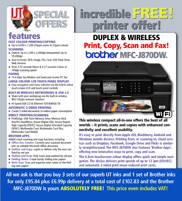 Brother DCP-J132W Free Printer Deal