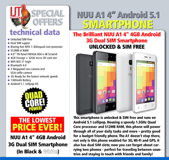 Nuu A1 Unlocked Android 5.1 Mobile Phone