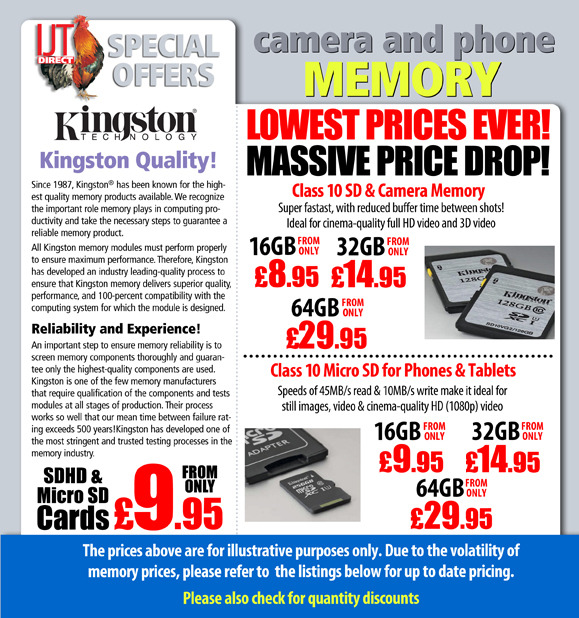 Memory Cards & USB Pen Drives