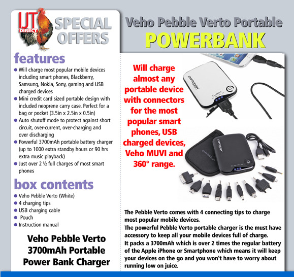 pebble verto portable charger instructions