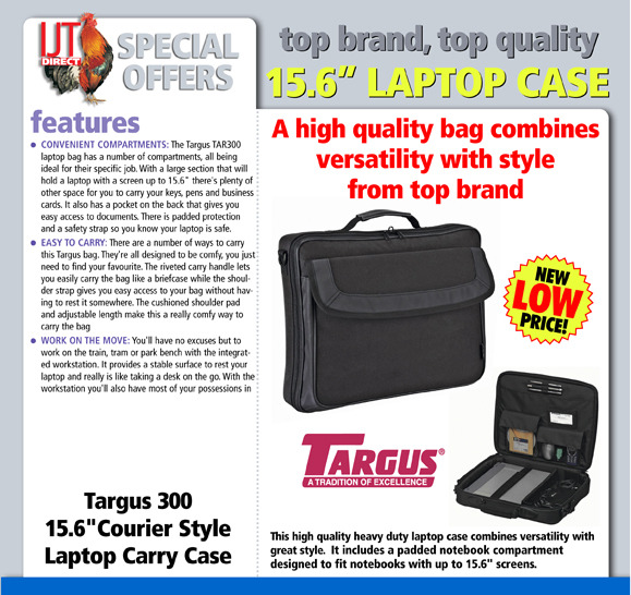 Targus 300 15.6 Notebook Laptop Carry Bag
