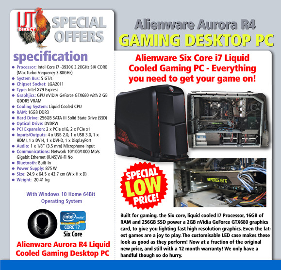 Alienware Aurora R4 Liquid Cooled Gaming Desktop PC - IJT Direct