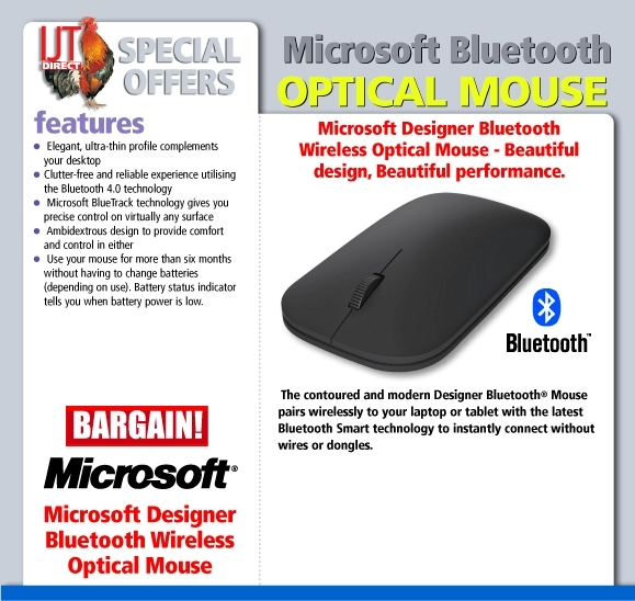 Microsoft Designer Bluetooth Wireless Optical Mouse