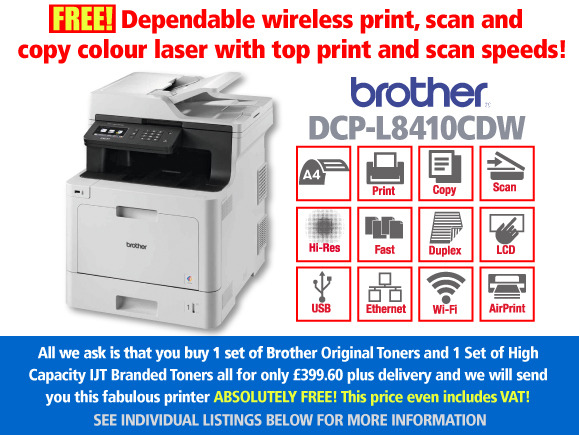 Free Brother DCP-L8410CDW Printer Deal: With 2 Full Sets of Toner