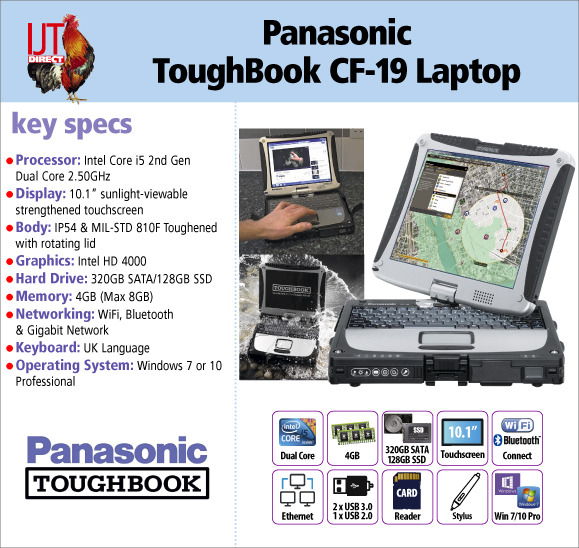 Panasonic ToughBook CF-19 10.1\