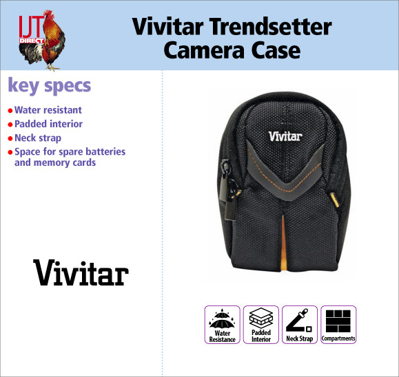 Vivitar Trendsetter Water Resistant Digital Camera Case with Neck Strap and extra storage pockets for £1.99