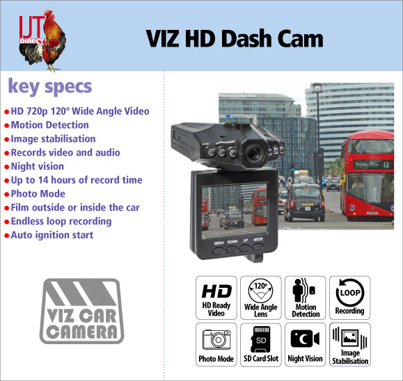 VIZ HD In Car Dash Cam Camera CCTV DVR Driving recorder brand new for only £17.95