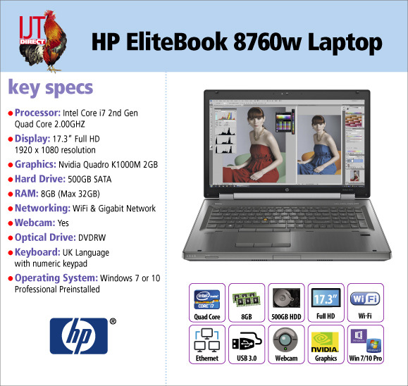 HP EliteBook 8760w 17.3\