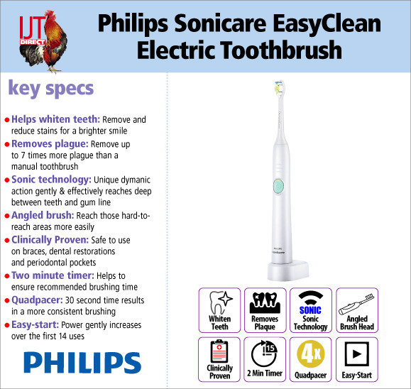 Philips Sonicare EasyClean Sonic Electric Rechargeable Dynamic Cleaning Toothbrush HX6511/43 for £39.95