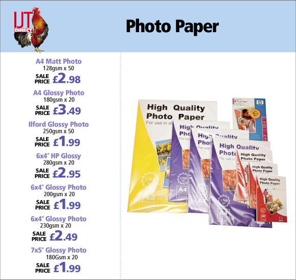 Professional Standard Photo Paper in a range of pack and paper sizes