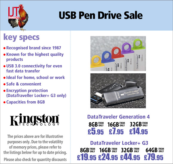 Kingston USB 3.0 Flash Memory Pen Drive Sale from only £4.95
