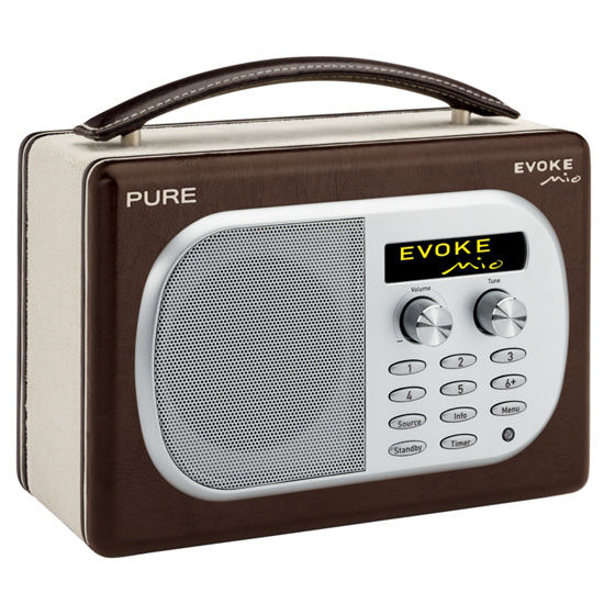 buy pure evoke mio retro dab radio at ijt direct. Black Bedroom Furniture Sets. Home Design Ideas