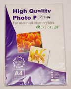 CoralJet A4 Glossy Photo Paper 260gsm Photography Paper Pack 20