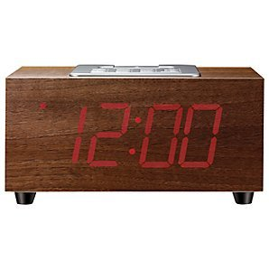 Superior John Lewis Newton Clock Radio Ipod Dock Unique Wood Effect LED Display Good Ideas