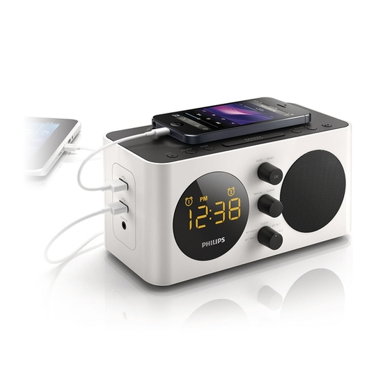 Philips AJ6000 USB Alarm Clock Radio