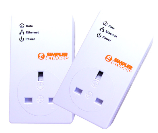 Buy Simpler Networks 200mbps Mains Ac Powerline Adapter Home