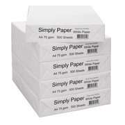 Simply Paper A4 Multipurpose Printer Copier 75gsm Box - 5 x 500 Sheets